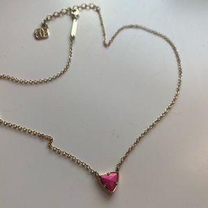 Kendra Scott Small Pendant Necklace Pink & Gold